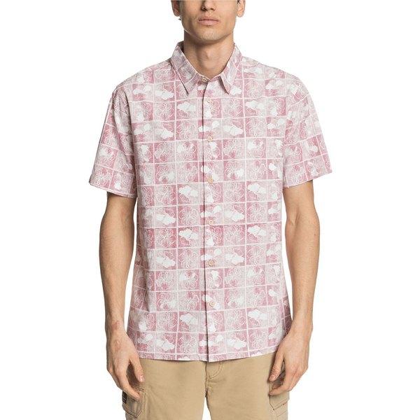 クイックシルバー Block Flower Quiksilver Men's Chili Shirt トップス Pepper メンズ シャツ