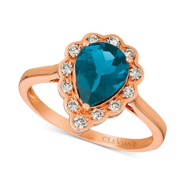 当店の記念日 ルヴァン レディース リング Blue アクセサリー ルヴァン London Blue Topaz Topaz (1-5/8 ct. t.w.) & Diamond (1/4 ct. t.w.) Ring in 14k Rose Gold Blue Topaz, エナシ:7fd6c43b --- cpps.dyndns.info