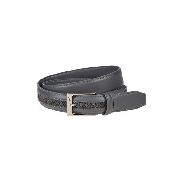 ナイキ メンズ ベルト アクセサリー Nike G-Flex Woven Leather Belt Dk Grey