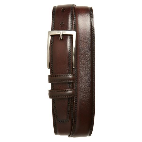 トリノ メンズ ベルト アクセサリー Torino Kipskin Leather Belt Espresso