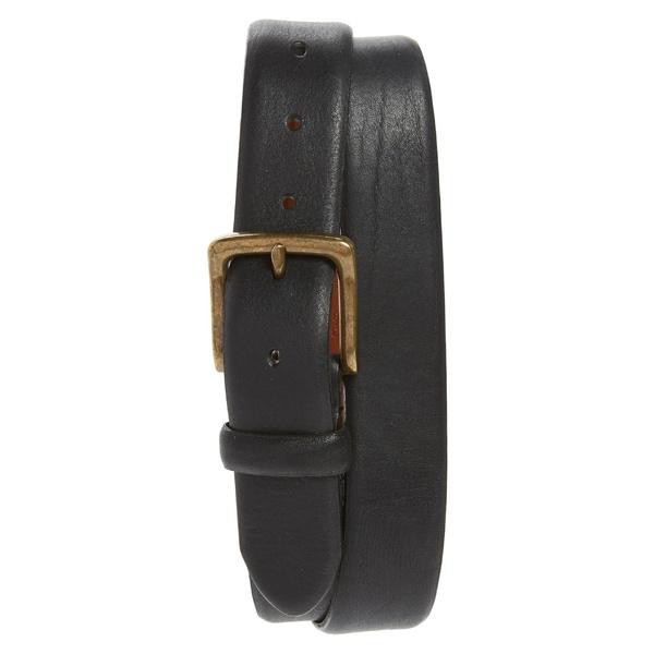 ボスカ メンズ ベルト アクセサリー Bosca Washed Leather Belt Black