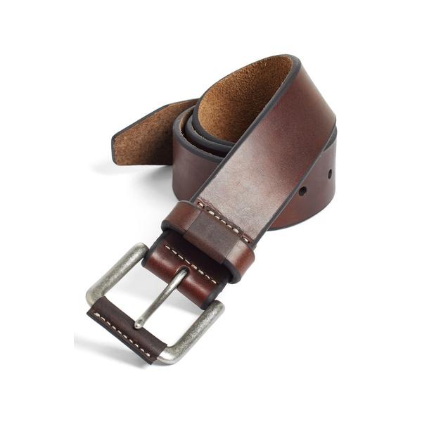 ジョンストンアンドマーフィー メンズ ベルト アクセサリー Johnston & Murphy Leather Belt Brown