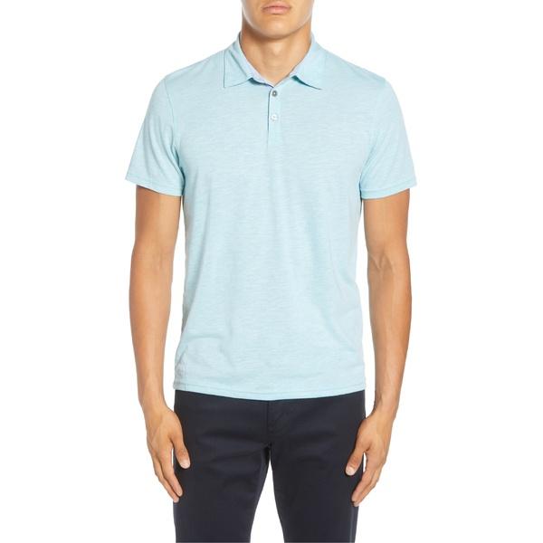 ザッカリープレル メンズ ポロシャツ トップス Zachary Prell Liff Regular Fit Slub Polo Aqua