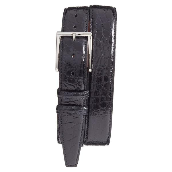 トリノ メンズ アクセサリー ベルト Black 全商品無料サイズ交換 トリノ メンズ ベルト アクセサリー Torino Genuine American Alligator Leather Belt Black