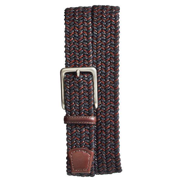 トリノ メンズ ベルト アクセサリー Torino Woven & Leather Belt Black/ Brown