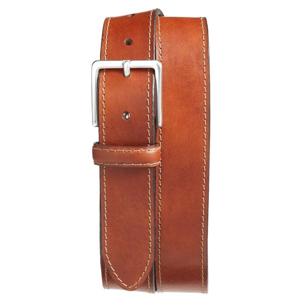ボスカ メンズ ベルト アクセサリー Bosca The Franco Leather Belt Amber