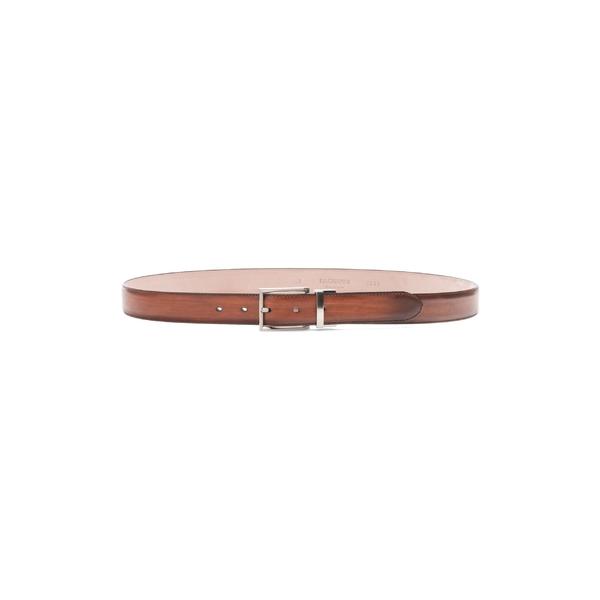 マグナーニ メンズ ベルト アクセサリー Magnanni Cortar Leather Belt Cognac