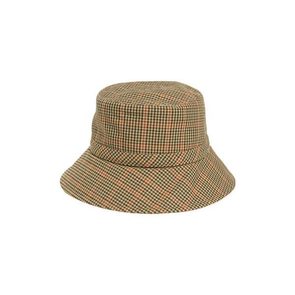 エリックジャヴィッツ レディース アクセサリー 帽子 Tan Check 全商品無料サイズ交換 エリックジャヴィッツ レディース 帽子 アクセサリー Eric Javits Rain Bucket Hat Tan Check