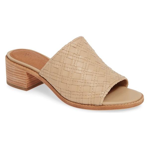 フライ レディース サンダル シューズ Frye Cindy Woven Slide Sandal (Women) Cream