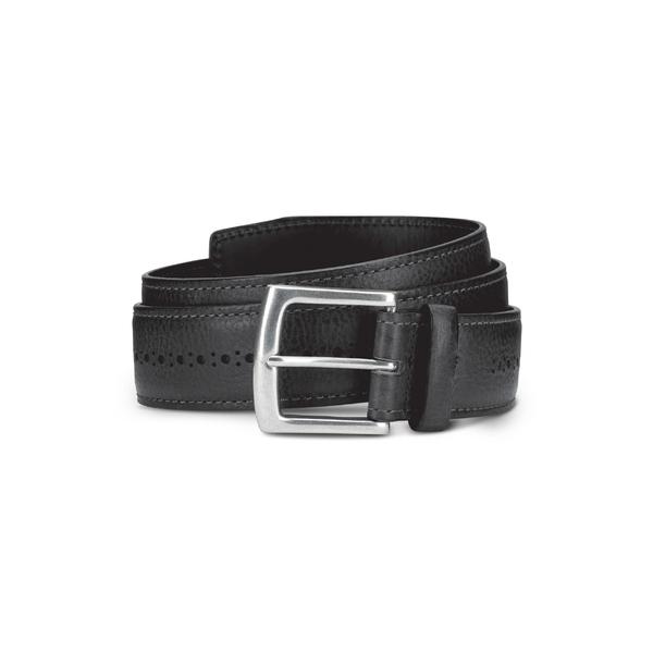 アレン エドモンズ メンズ ベルト アクセサリー Allen Edmonds Brogue Street Leather Belt Black