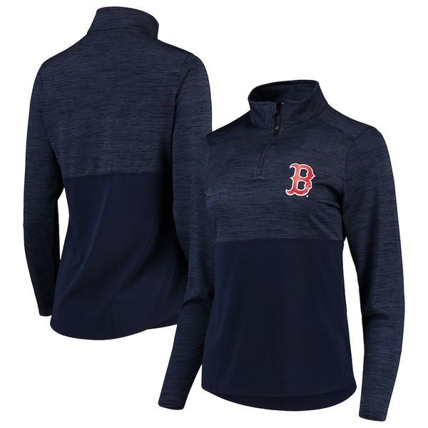 ファナティクス レディース ジャケット&ブルゾン アウター Boston Red Sox Fanatics Branded Women's Quarter-Zip Pullover Jacket Navy
