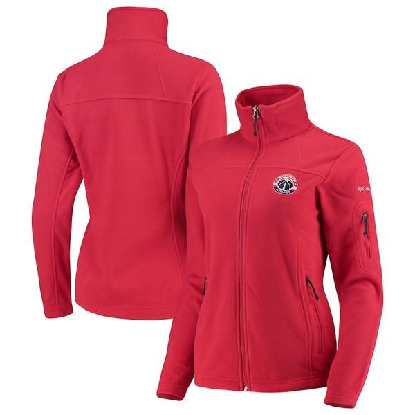 コロンビア レディース ジャケット&ブルゾン アウター Washington Wizards Columbia Women's Give & Go Full-Zip Jacket Red