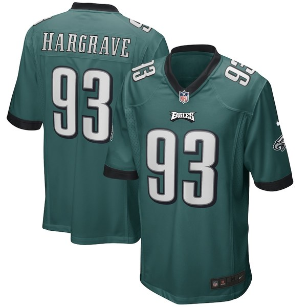 ナイキ メンズ シャツ トップス Javon Hargrave Philadelphia Eagles Nike Game Player Jersey Midnight Green