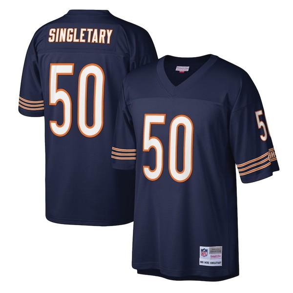 ミッチェル&ネス メンズ シャツ トップス Mike Singletary Chicago Bears Mitchell & Ness Legacy Replica Jersey Navy