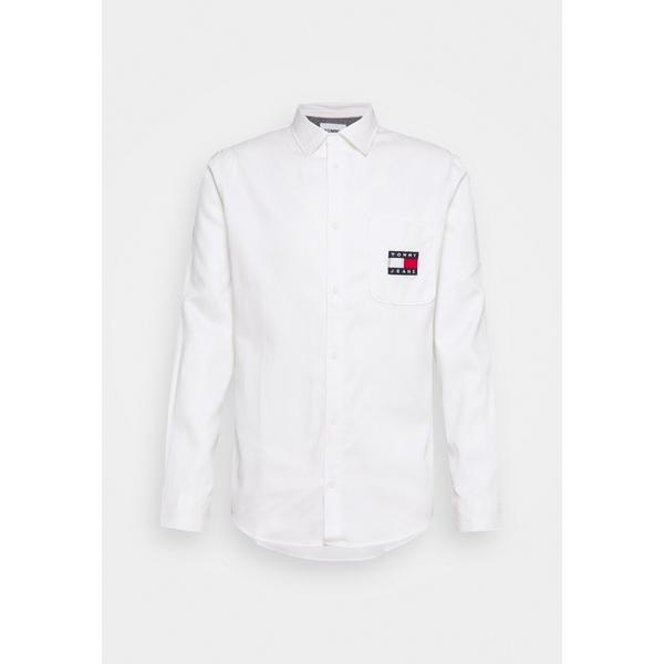 トミーヒルフィガー メンズ トップス シャツ 与え white BADGE Shirt 本物 全商品無料サイズ交換 - wkpz004c