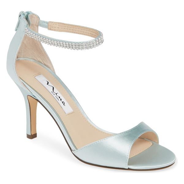 ニナ レディース サンダル シューズ Nina Volanda Ankle Strap Sandal (Women) Brook Green Satin