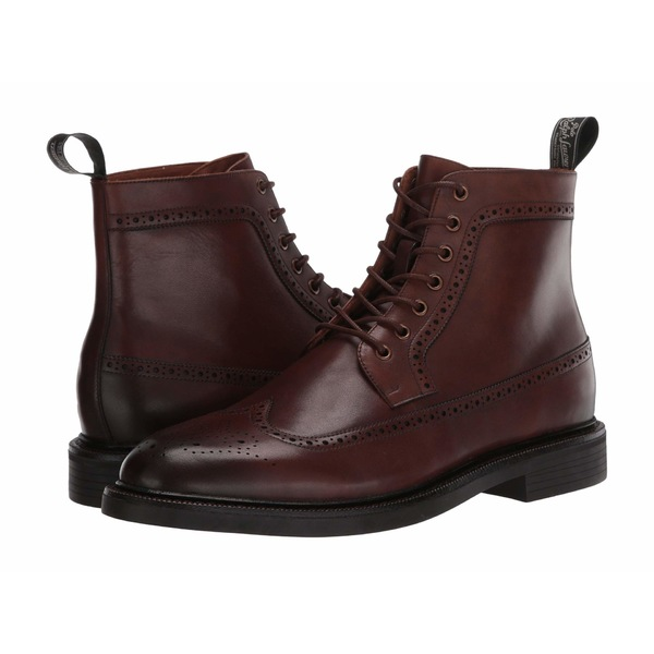 ラルフローレン メンズ ブーツ&レインブーツ シューズ Asher Wing Tip Boot Brown Dress Calf