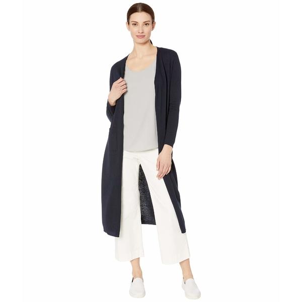 トリバル レディース ニット&セーター アウター Long Sleeve Long Sweater Cardigan Ink