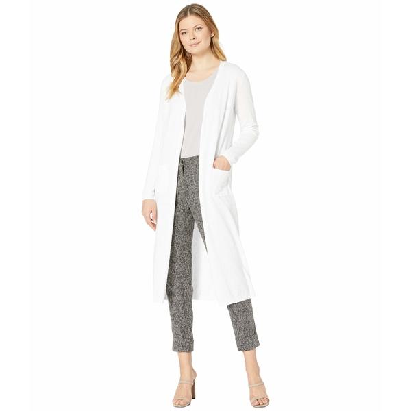 トリバル レディース ニット&セーター アウター Long Sleeve Long Sweater Cardigan White