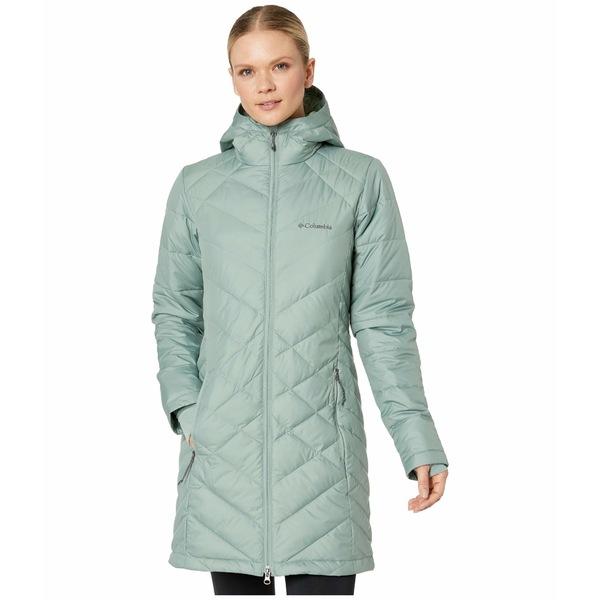 コロンビア レディース コート アウター Heavenly Long Hooded Jacket Light Lichen