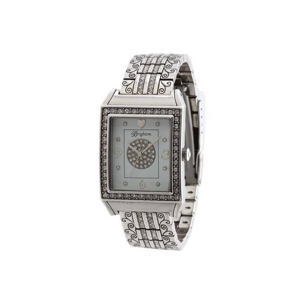 ブライトン レディース 腕時計 アクセサリー Diamond Bar Watch Silver/Stone