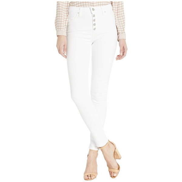 ハドソンジーンズ レディース デニムパンツ ボトムス Barbara High-Rise Super Skinny Ankle Jeans with Exposed Buttons in White White