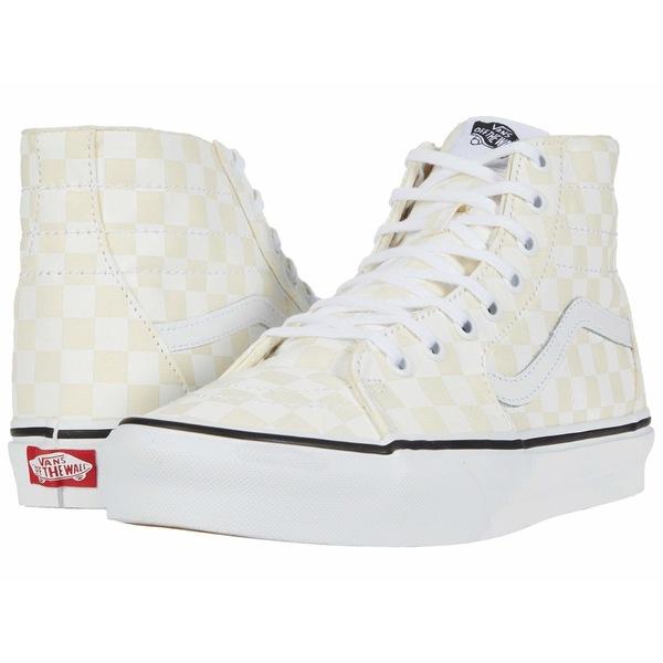 バンズ メンズ スニーカー シューズ Sk8-Hi Tapered (Checkerboard) White/True White