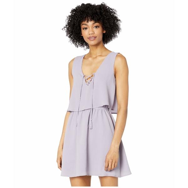 ジャック バイ ビービーダコタ レディース ワンピース トップス Layered Bubble Crepe Flounce Dress with Lace-Up Dusty Lavender