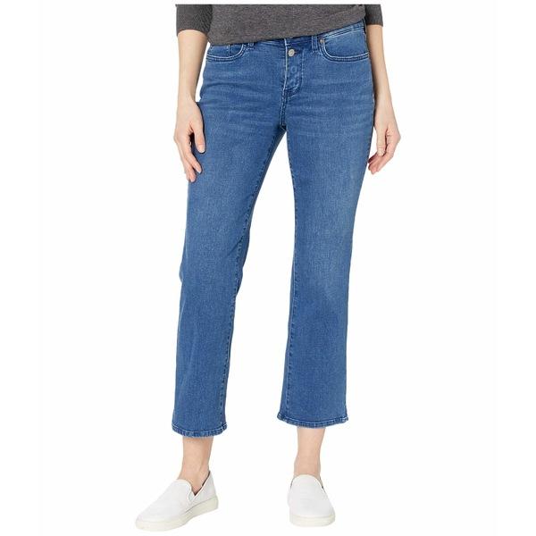 エヌワイディージェイ レディース デニムパンツ ボトムス Marilyn Straight Ankle Jeans with Mock Fly and Slit in Nevin Nevin