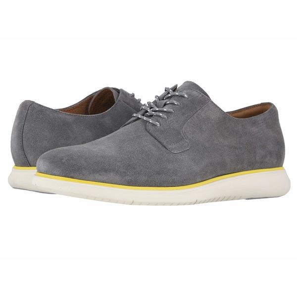 フローシャイム メンズ ドレスシューズ シューズ Fuel Plain Toe Oxford II Gray Suede/White Sole