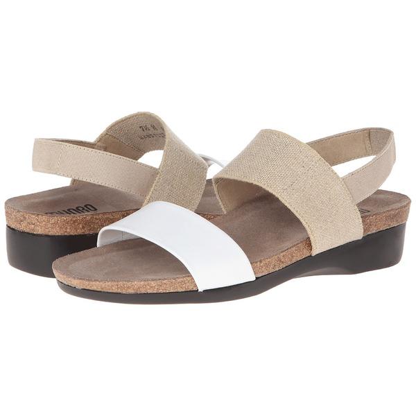 ムンロー レディース サンダル シューズ Pisces Natural Fabric/White Leather