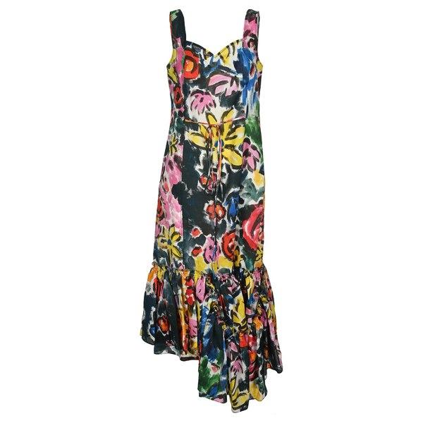 芸能人愛用 マルニ レディース ワンピース トップス Marni Floral Print Ruffle Dress -, トランシーバー館インカム専門店 b8145ee8