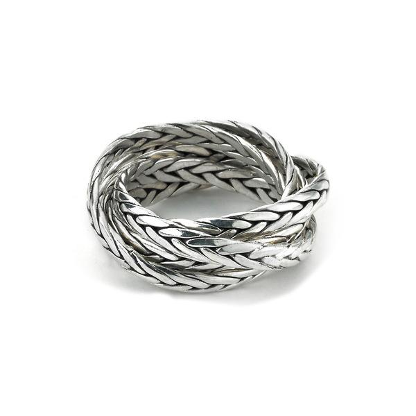 サミュエルビージュエリー レディース アクセサリー リング SILVER 全商品無料サイズ交換 Sterling Ring Stacked 大人気 Silver Up Design 代引き不可 Braided