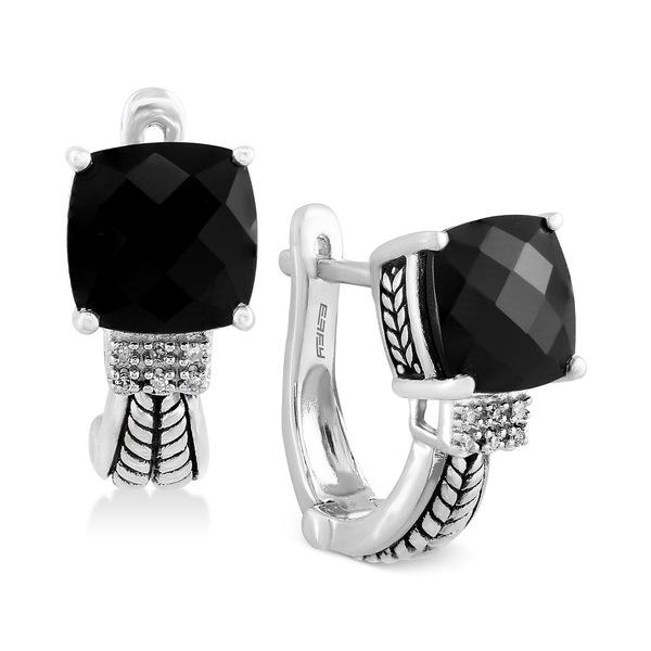 最大80%オフ! エフィー コレクション レディース ピアス&イヤリング アクセサリー EFFY® Black Onyx (3-1/2 ct. t.w.) and Diamond Accent Earrings in Sterling Silver Silver, ナチュラル雑貨 リリアンナ 21b29b25