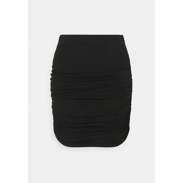 オブジェクト プティ レディース ボトムス マーケティング スカート black 全商品無料サイズ交換 驚きの値段で SKIRT PAPE - skirt woft0205 Mini OBJLUCA