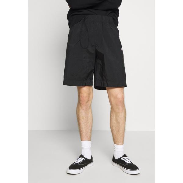 チャンピオン リバース 直営店 ウィーブ メンズ ボトムス カジュアルパンツ キャンペーンもお見逃しなく 全商品無料サイズ交換 black BERMUDA Shorts - wpac013f