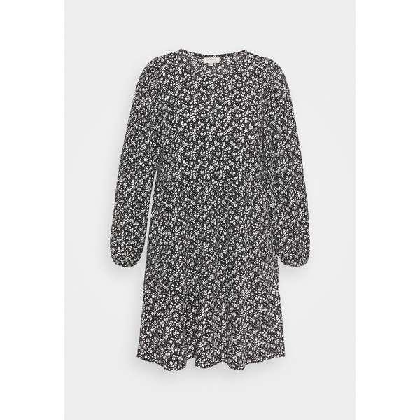 オンリー カルマコマ レディース トップス ワンピース black white flower 上質 Day CARZILLY dress CALF 全商品無料サイズ交換 wpac0141 DRESS - 高い素材