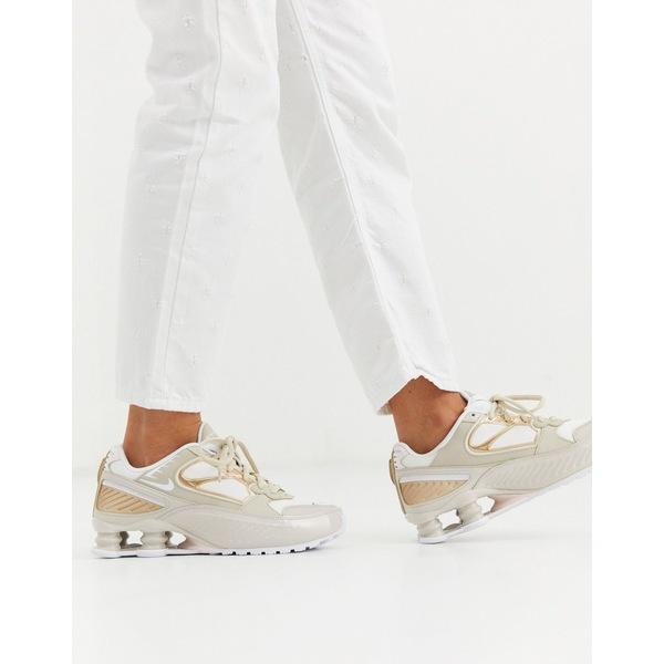 ナイキ レディース スニーカー シューズ Nike beige Shox Enigma 9000 sneakers Desert sand