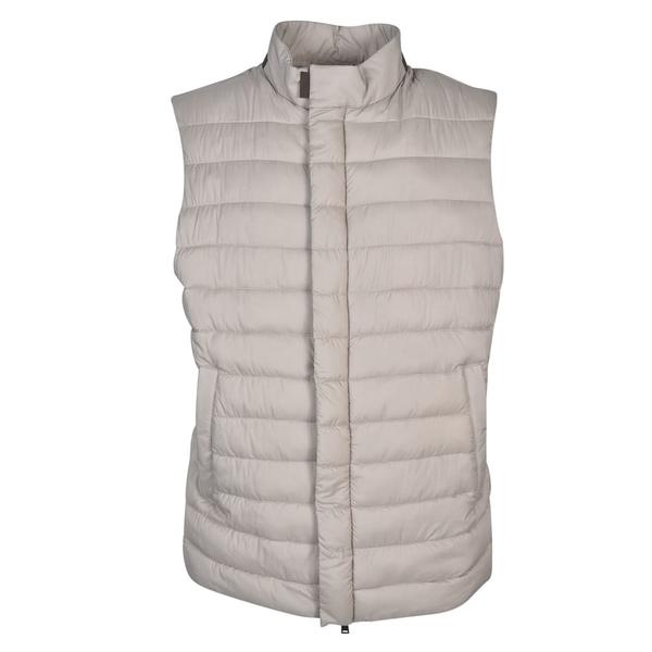 ヘルノ メンズ ジャケット&ブルゾン アウター Herno High Collar Padded Gilet Grey