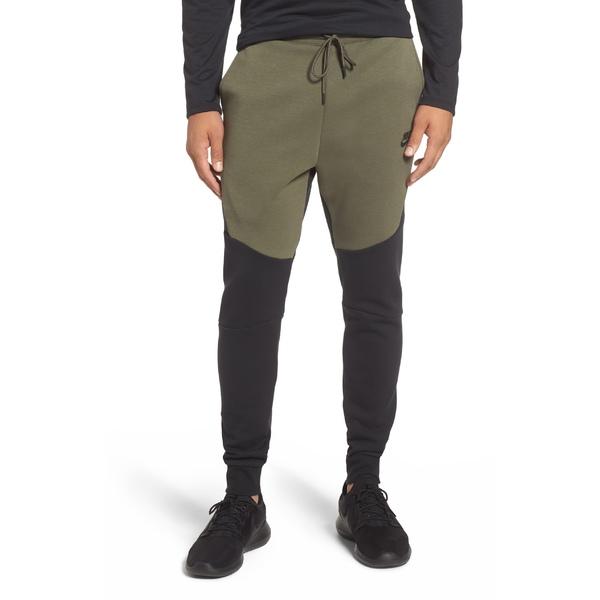 ナイキ メンズ カジュアルパンツ ボトムス Nike Tech Fleece Jogger Pants Black/ Twilight Marsh/ Black