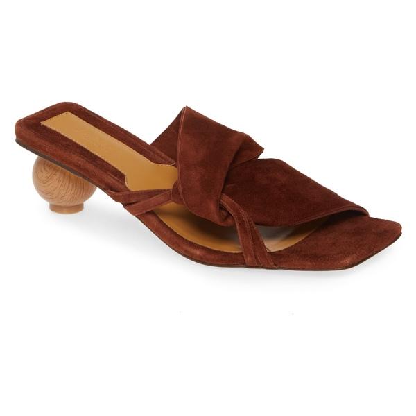 ジャガー レディース サンダル シューズ JAGGAR Gathered Slide Sandal (Women) Chocolate Suede