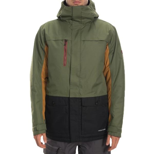 Insulated ジャケット&ブルゾン Surplus シックスエイトシックス メンズ 686 アウター Anthem Green Colorblock Jacket