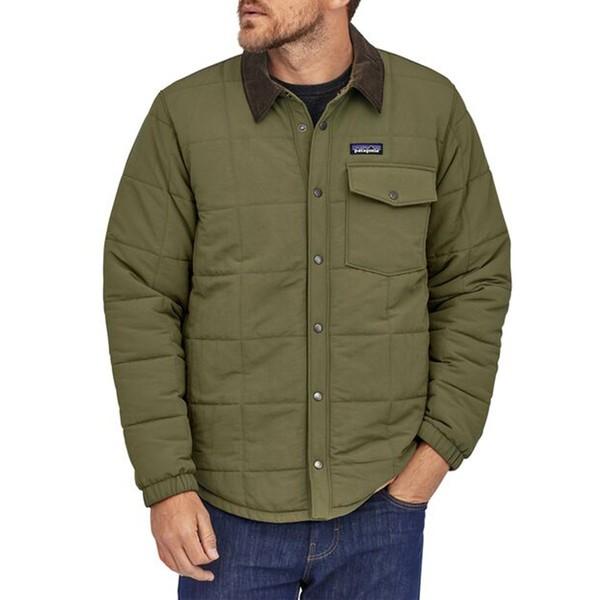 パタゴニア メンズ ジャケット&ブルゾン アウター Patagonia Isthmus Quilted Shirt Jacket Industrial Green