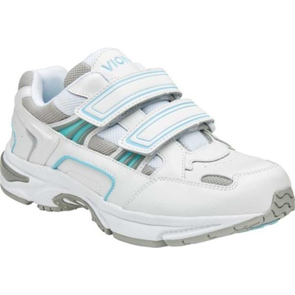 バイオニック レディース スニーカー シューズ Tabi Two Strap Sneaker White/Blue Leather