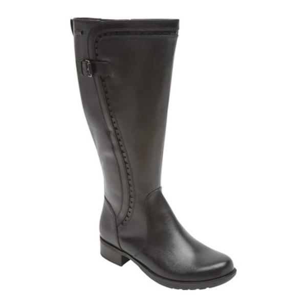 ロックポート レディース ブーツ&レインブーツ シューズ Copley Tall Wide Calf Leather Boot Black Leather