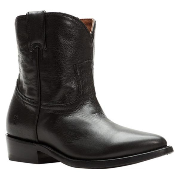フライ レディース ブーツ&レインブーツ シューズ Billy Short Black Polished Soft Full Grain Leather