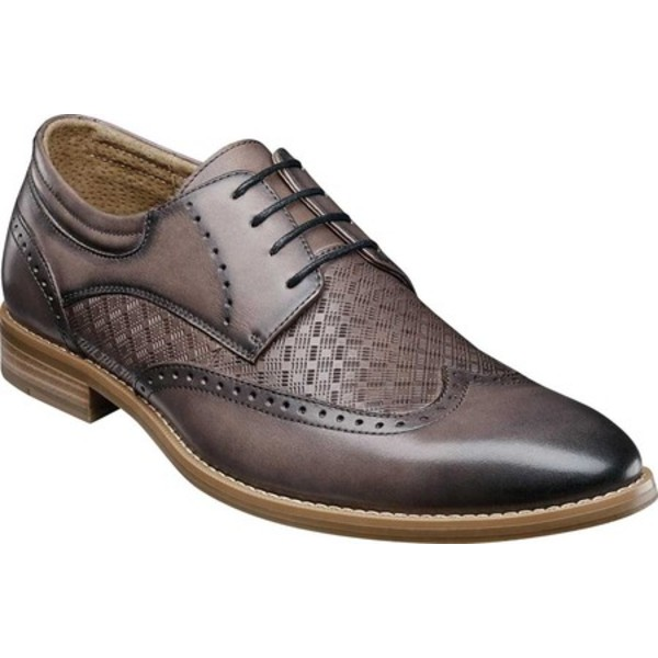 ステイシーアダムス メンズ ドレスシューズ シューズ Fallon Wing Tip Oxford Gray Smooth Leather