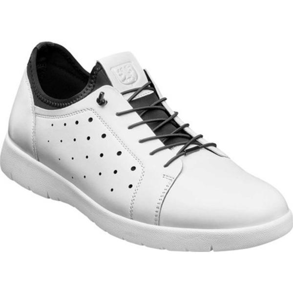 ステイシーアダムス メンズ ドレスシューズ シューズ Halden Cap Toe Sneaker White Burnished Smooth Leather
