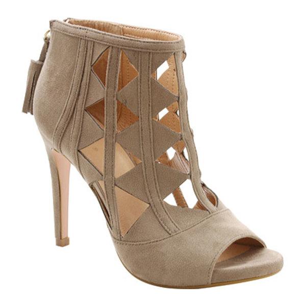 キスキス レディース ブーツ&レインブーツ シューズ Catalina Peep-Toe Ankle Boot Grey Microlina