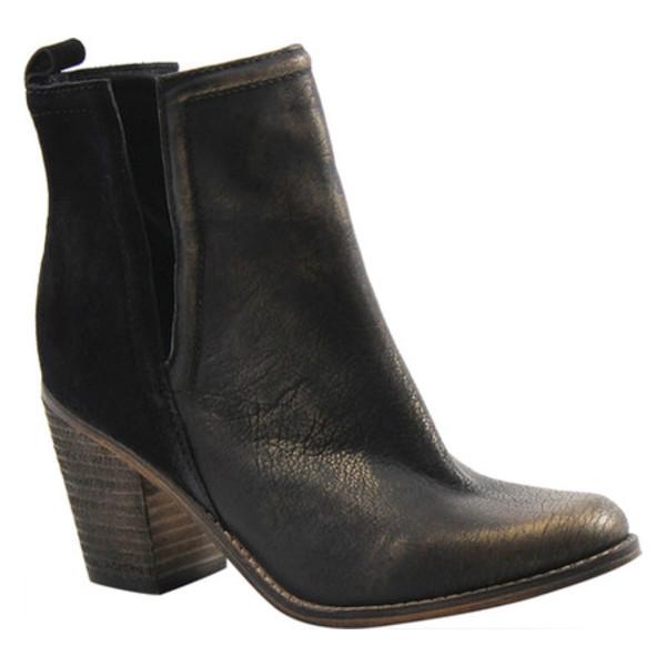ディバトゥルー レディース ブーツ&レインブーツ シューズ Later On Bootie Black/Gold Suede/Leather